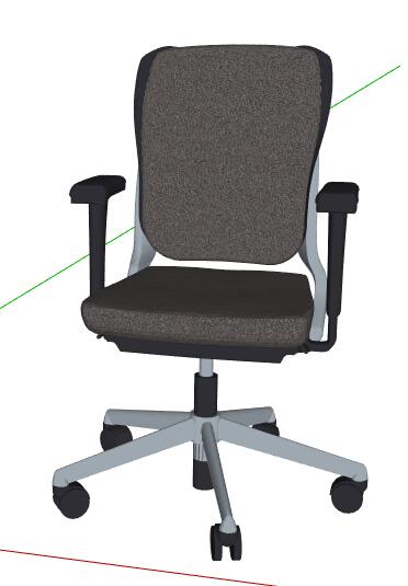 现代转椅办公椅设计su模型