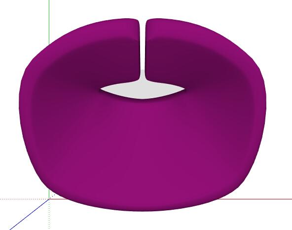简约紫色座椅设计su模型