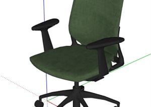 现代风格办公椅座椅素材SU(草图大师)模型