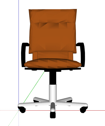 简约黄色转椅设计su模型