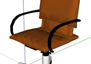 简约黄色转椅设计SU(草图大师)模型