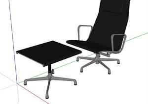 简约转椅及坐凳设计SU(草图大师)模型
