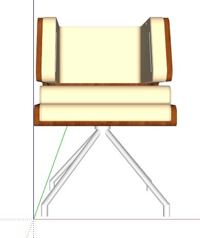 简约沙发椅设计素材su模型