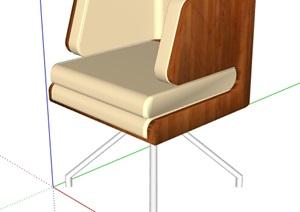 简约沙发椅设计素材SU(草图大师)模型