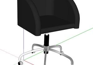 简约黑色转椅设计SU(草图大师)模型