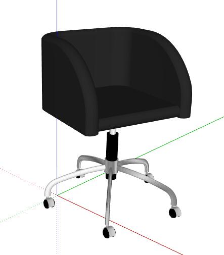 简约黑色转椅设计su模型