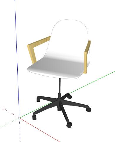 某简约白色座椅设计su模型