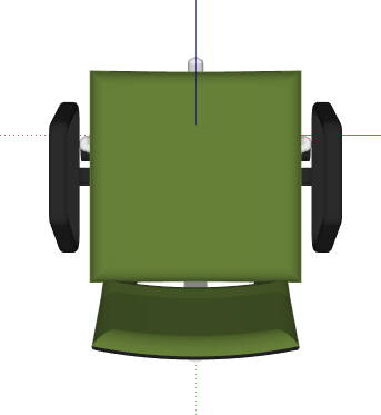 现代绿色转椅设计su模型