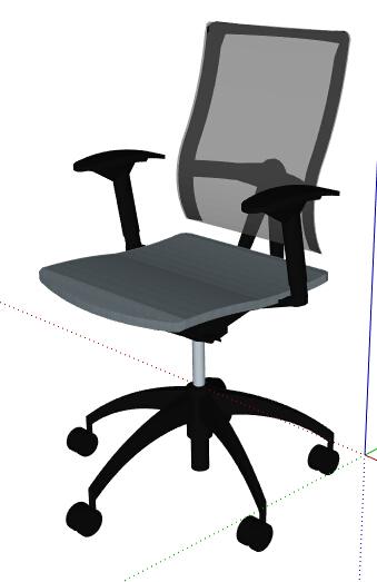 现代办公转椅素材设计su模型