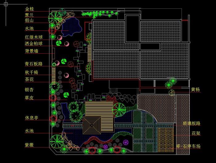 新中式图纸别墅建筑su图纸+CAD模型[原创]英文风格v图纸图片