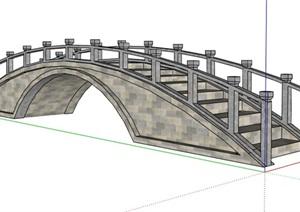 某中式景观拱桥设计SU(草图大师)模型