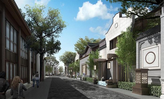 中式联排别墅图片 效果图图片