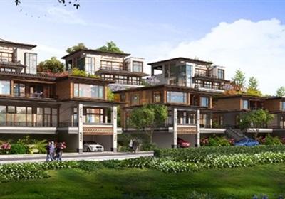 二層中式別墅SU模型