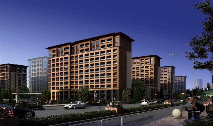 现代风格商场及办公楼建筑设计su模型