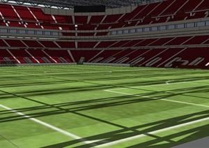 世界杯足球场SU(草图大师)模型设计