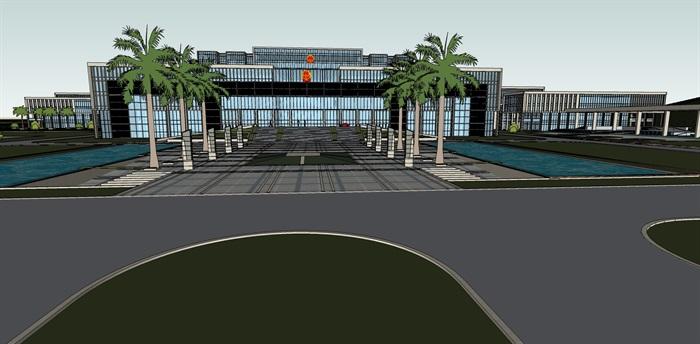 政府行政办公楼su模型(1)