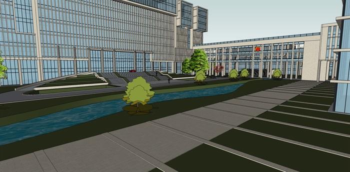 政府行政办公楼su模型(2)