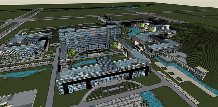 政府行政办公楼su模型(3)