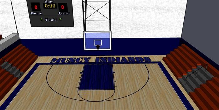 篮球馆室内设计su模型[原创]
