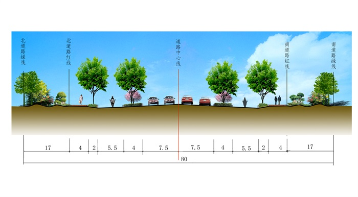 某道路綠化全套施工圖及匯報方案(3)