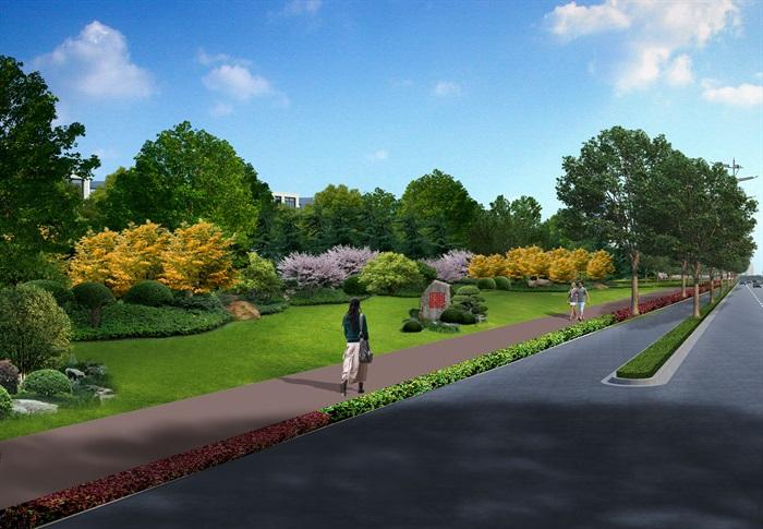 某道路綠化全套施工圖及匯報方案(5)
