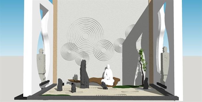 党建纪念馆荣誉展厅展馆活动室3D模型设计(2)