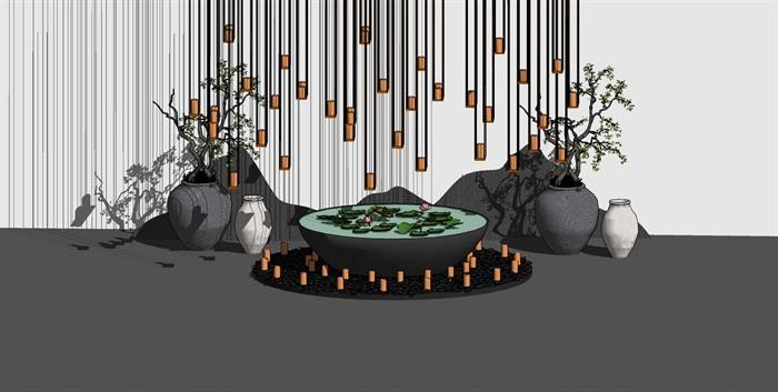 党建纪念馆荣誉展厅展馆活动室3D模型设计(4)