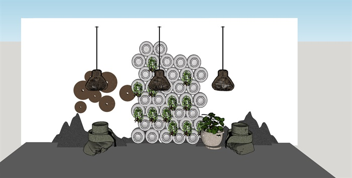 党建纪念馆荣誉展厅展馆活动室3D模型设计(5)