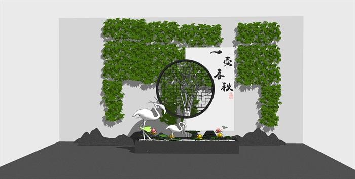 党建纪念馆荣誉展厅展馆活动室3D模型设计(6)