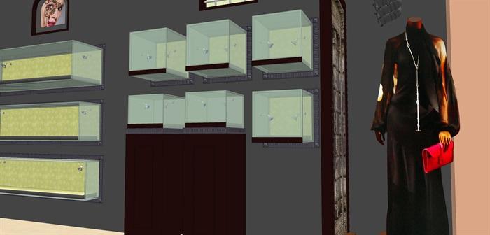 时尚精品服装店su室内模型设计(2)