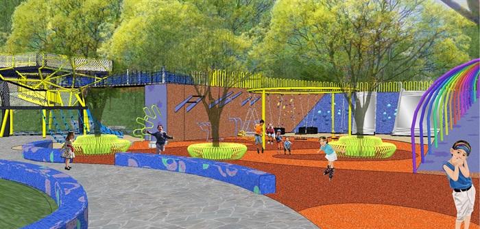 儿童游乐公园景观方案su模型[原创]