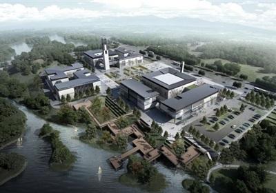一個新中式規劃展覽館建筑方案SU模型