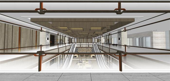 精品星级酒店大堂su模型设计(3)
