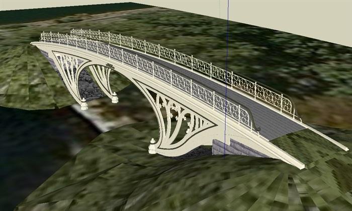 14座园林景观桥方案素材su模型[原创]