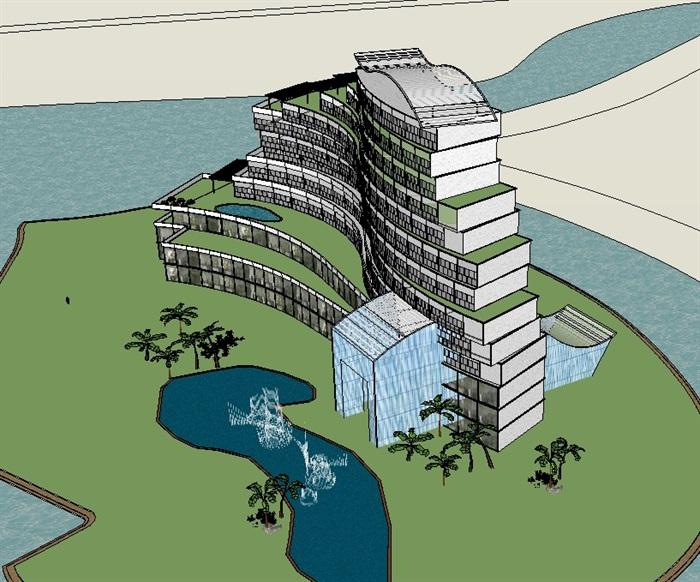 15个造型各异的办公楼相关模型su大学v模型[建筑]中国平面设计原创专业的方案图片