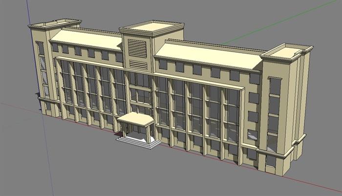 15个造型各异的办公楼建筑方案su模型素材[原创]