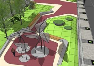 街边线型创意活动休闲公园