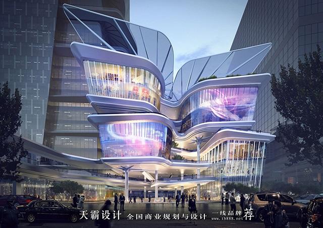 天霸設計盤點購物中心設計效果圖精彩外立面設計方案-深圳羅湖友誼城3
