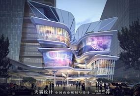 天霸設計盤點購物中心設計效果圖精彩外立面設計方案