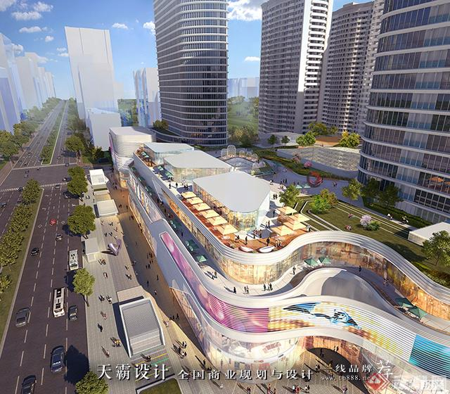 天霸设计盘点购物中心设计效果图精彩外立面设计方案-MOMOPARK购物中心3