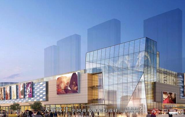 天霸設計盤點購物中心設計效果圖精彩外立面設計方案-華潤集團 哈爾濱萬象匯8
