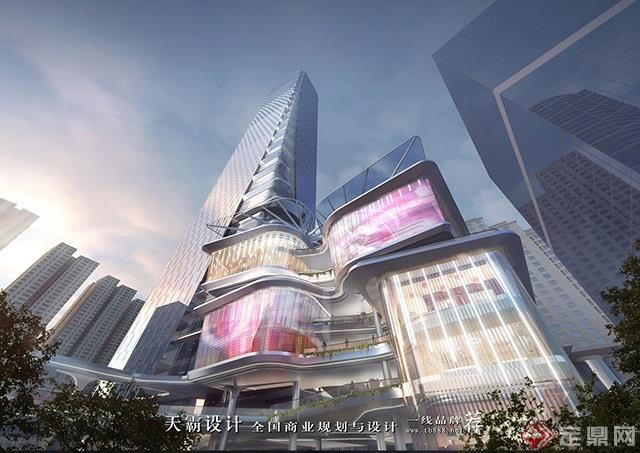 天霸設計盤點購物中心設計效果圖精彩外立面設計方案-深圳羅湖友誼城1