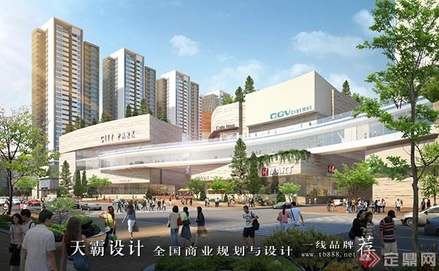 天霸設計盤點購物中心設計效果圖精彩外立面設計方案-淮南龍湖路國際購物廣場11