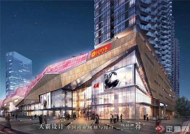 天霸設計盤點購物中心設計效果圖精彩外立面設計方案郴州美美世界城市廣場