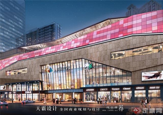 天霸设计盘点购物中心设计效果图精彩外立面设计方案郴州美美世界城市广场4