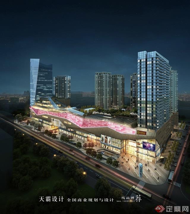 天霸设计盘点购物中心设计效果图精彩外立面设计方案郴州美美世界城市广场