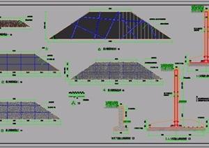 四种挡土墙园林设施设计施工详图(毛石、清水混凝土)