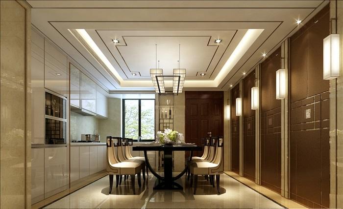 中式风格三层别墅装修cad全套施工图及效果图源文件