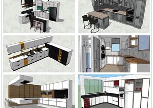 精品室内整体厨房厨具SU(草图大师)模型