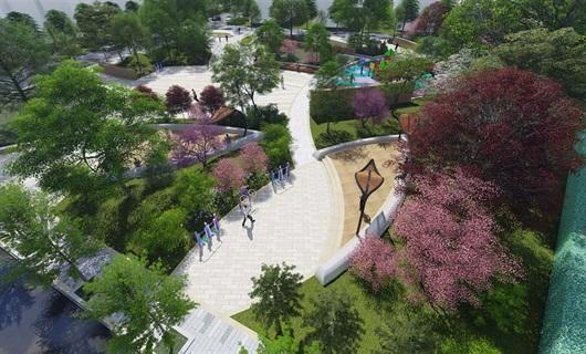 湖州街头公园效果图